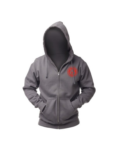 Jaco Team Hoodie Charcoal/Red