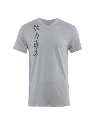 Jaco Kanji II Performance V Neck t-shirt Silverlake