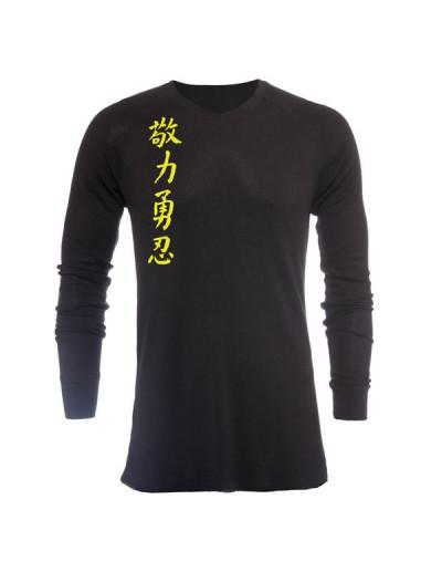 Jaco Kanji II V Neck Thermal Black/SugaFly Yellow