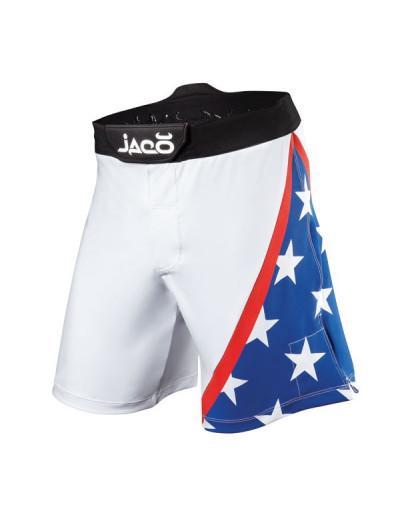 Jaco USA Resurgence MMA Fight Shorts White