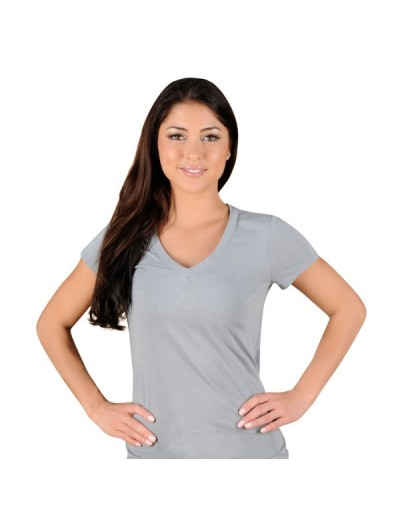 Jaco Womens Authentic Performance V Neck t-shirt Silverlake