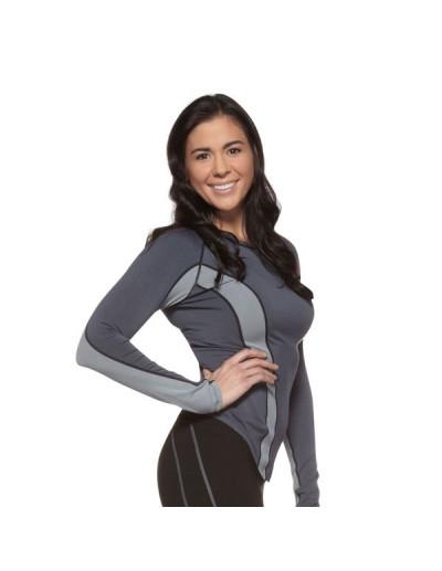 Jaco Womens Performance Training Top Long Sleeve Grey