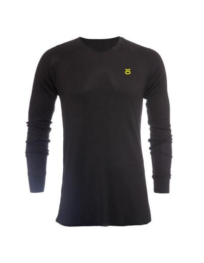 Jaco Tenacity V Neck Thermal Black/SugaFly Yellow