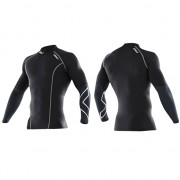 2XU Men's Elite Compression Top Black/Steel Kompressiopaita
