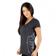 Jaco Womens Buddha Performance V Neck t-shirt Black