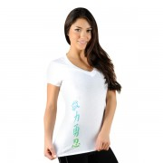 Jaco Womens Kanji Performance V Neck t-shirt White