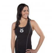 Jaco Womens Racer Tank With Sports Bra Black