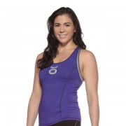 Jaco Womens Racer Tank With Sports Bra Blue Iris