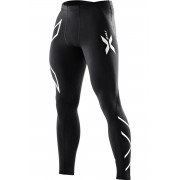 2XU Men's Compression Tights Black/Silver Logo Miesten kompressiotrikoot