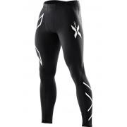 2XU Men's Compression Tights Black/Silver Logo Miesten kompressiotrikoot
