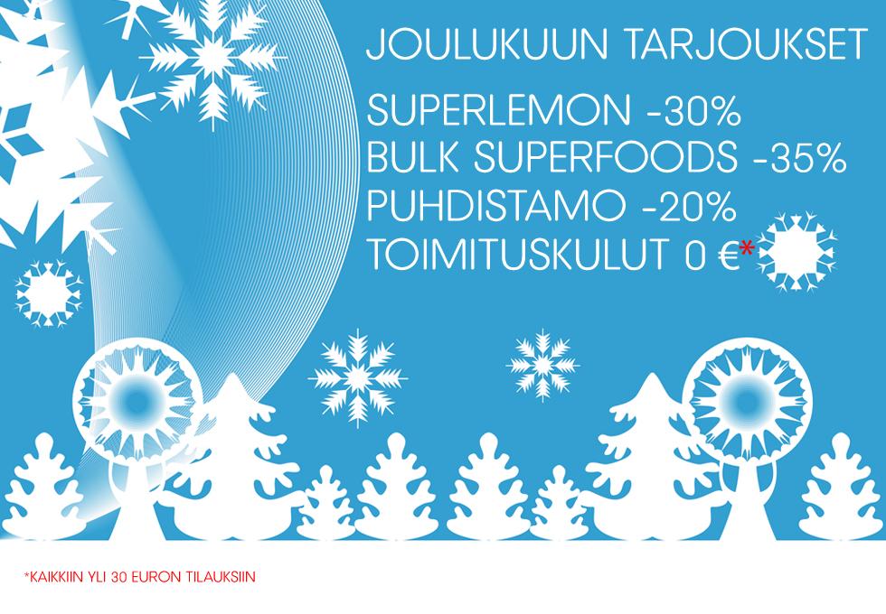 Joulukuun superfood-tarjoukset